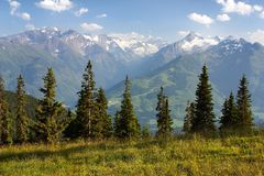 View from Kitzbuheler Alpen to Hohe Tauern Royalty Free Stock Image