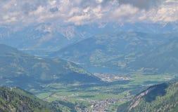 View from Kitzsteinhorn over Zeller See and Kaprun Royalty Free Stock Photos