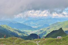View from Kitzsteinhorn over Zeller See and Kaprun Royalty Free Stock Photo
