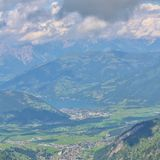 View from Kitzsteinhorn over Zeller See and Kaprun Stock Photography