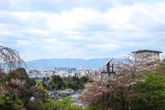 View from Kiyomizu-dera temple. Kiyomizu-dera temple is the most popular temple in Kyoto, Japan Royalty Free Stock Photography