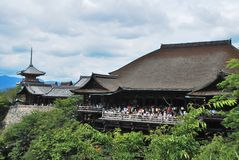 View of Kiyomizu Temple and pagoda Royalty Free Stock Images