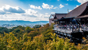 View of kiyomizudera temple wit Royalty Free Stock Image