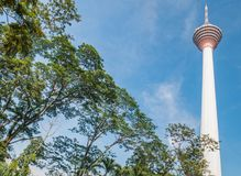KL Tower in the Blue SKy. View of KL Tower in the Blue SKy Royalty Free Stock Images