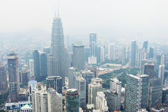 View from KL Tower. Royalty Free Stock Photo