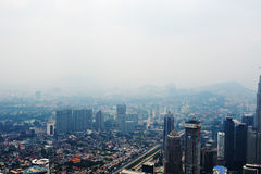 View from KL Tower. Royalty Free Stock Image