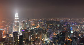View from KL Tower observation desk. Kuala Lumpur. Malaysia Royalty Free Stock Photography