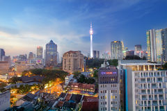 View of The KL Towers on September 28 Royalty Free Stock Photography