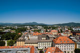 View of Klagenfurt Stock Images