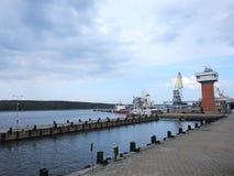 View of Klaipeda town port, Lithuania Stock Photos