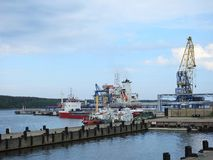 View of Klaipeda town port, Lithuania Stock Images