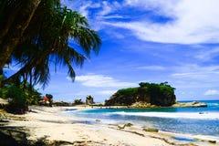 View on Klayar Beach royalty free stock photo
