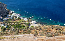 View of Klima fishing village, Milos island, Cyclades, Greece Royalty Free Stock Photo