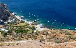 View of Klima fishing village, Milos island, Cyclades, Greece Royalty Free Stock Photo
