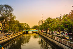 View of Klong Phadung Krung Kasem, the canal dug in 1851 in orde Stock Images