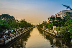 View of Klong Phadung Krung Kasem, the canal dug in 1851 in orde Stock Photos