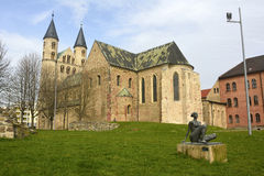 View of Klosterkirche St. Marien in Magdeburg, Germany royalty free stock photo
