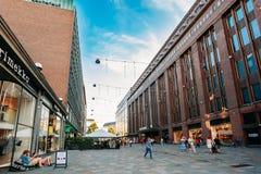 View of Kluuvikatu street, HELSINKI, FINLAND Stock Photos