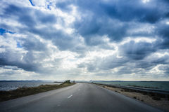 View of the 48km long Causeway Royalty Free Stock Photo