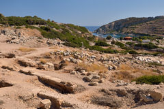 View of Knidos city ruins, Datca peninsula, Mugla, Turkey. Stock Photography
