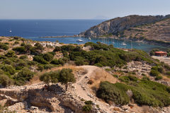 View of Knidos city ruins, Datca peninsula, Mugla, Turkey. Royalty Free Stock Image