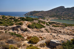 View of Knidos city ruins, Datca peninsula, Mugla, Turkey. Royalty Free Stock Photography
