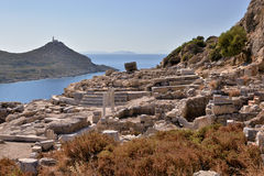 View of Knidos city ruins, Datca peninsula, Mugla, Turkey. Stock Image