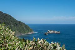 Knights Point lookout, New Zealand. View from Knights Point lookout to Arnott Point on the Haast Highway, West Coast of New Zealand`s South Island Stock Photography