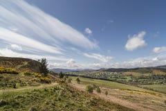View from Knockfarrel hill near Strathpeffer in Scotland. Royalty Free Stock Photos