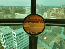 View of Knoxville, Tennessee from observation tower. View of Knoxville, Tennessee from tall observation tower Stock Images