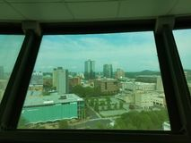 View of Knoxville, Tennessee from observation tower. View of Knoxville, Tennessee from tall observation tower Stock Photo