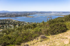 View on Knysna region, Garden Route, South Africa Royalty Free Stock Image