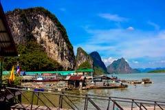 View of Ko Panyi Island,Phang Nga Province, Thailand Stock Photo