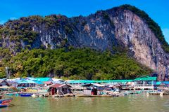 View of Ko Panyi Island,Phang Nga Province, Thailand Stock Photos