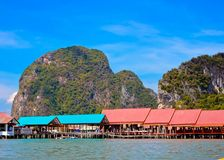View of Ko Panyi Island,Phang Nga Province, Thailand Royalty Free Stock Photo
