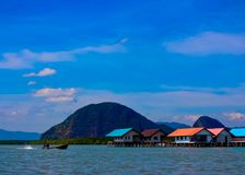 View of Ko Panyi Island,Phang Nga Province, Thailand Royalty Free Stock Image