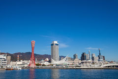 View of Kobe tower and city landscape Stock Photo