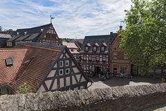 View of the Koenig-Adolf-Platz, Hesse, Germany.  stock image