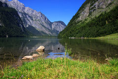 View from the Koenigssee towards the alps Royalty Free Stock Photos