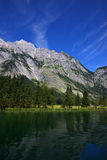 View from the Koenigssee towards the alps Stock Photography