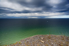 View from Koenigsstuhl Ruegen. On baltic sea Royalty Free Stock Images
