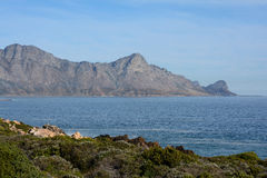 A view of Kogelbaai. Near Cape Town with Hangklip in the background Royalty Free Stock Photos