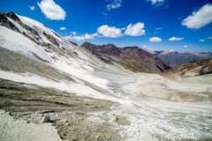 View from Kok-Airyk pass. Tien Shan mountains Royalty Free Stock Photos