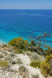 View of Kokkinos Vrachos Beach, Lefkada, Ionian Islands, Greece Stock Photos
