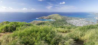 View from the Koko Head stock photos