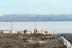 View of the Kola nuclear power station Royalty Free Stock Image