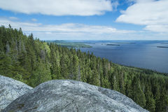 View from the Koli to lake Pielinen Royalty Free Stock Photography