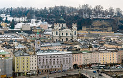 View of Kollegienkirche in Salzburg Royalty Free Stock Images