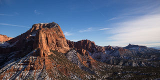 View of Kolob Canyon in Zion Stock Photo