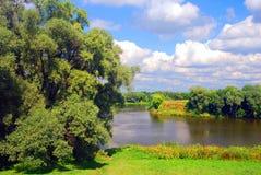 View of Kolomenka river. Kremlin in Kolomna, Russia. Royalty Free Stock Photo